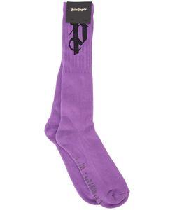 Palm Angels | Pa Socks Mens Size L/Xl Cotton/Elastodiene/Spandex/Elastane