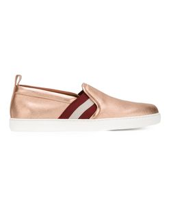 Bally | Stripe Detail Sneakers Womens Size 37.5 Leather/Rubber