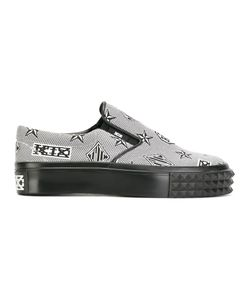 KTZ | Monogram Slip-On Sneakers Mens Size 44 Polyester/Leather/Rubber