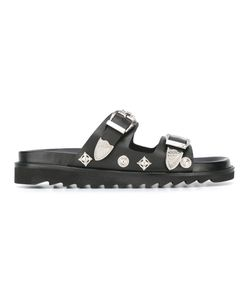 Toga | Buckle Strap Sandals Mens Size 40 Leather/Rubber/Metal Other