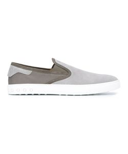 Tod's | Contrast Trainers Mens Size 6 Cotton/Leather/Rubber/Suede