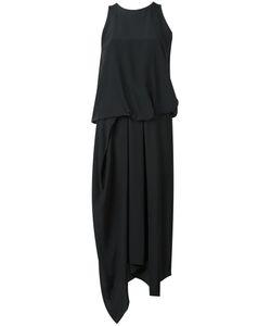 Chalayan | Tuck Drape Dress Womens Size 42 Silk