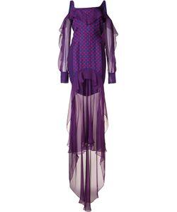 J. Mendel   Dots Print Laye Dress Size 2 Silk