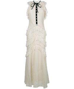 Philosophy di Lorenzo Serafini | Ruffled Lace Maxi Dress Womens Size 40