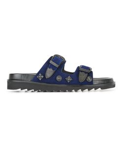 Toga | Buckled Sandals Mens Size 45 Suede/Leather/Rubber/Metal