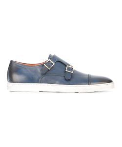 Santoni | Double Strap Monk Shoes Mens Size 7 Leather/Rubber