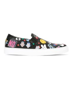 Anya Hindmarch | Allover Stickers Slip-On Sneakers Mens Size 43 Calf