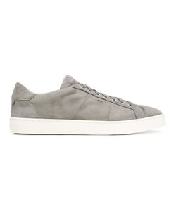 Santoni | Lace-Up Sneakers Mens Size 43 Leather/Suede/Rubber