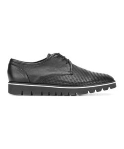 Baldinini | Perforated Platform Derbies Mens Size 46 Calf Leather/Leather/Rubber