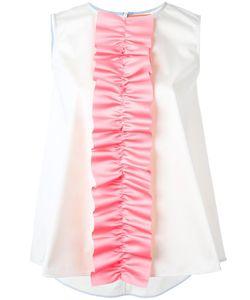 Paskal | Ruffle Detail Sleeveless Top Womens Size Xs Polyester/Cotton/Spandex/Elastane