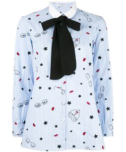 Vivetta | Pussy-Bow Collar Shirt Womens Size 44 Cotton/Polyester