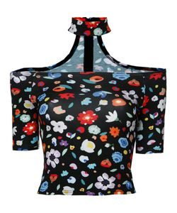 G.V.G.V. | Printed Chocker Top Womens Size Small Polyurethane/Rayon