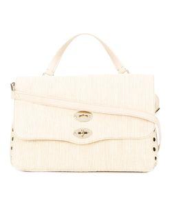 Zanellato   Flip Lock Shoulder Bag Womens Canvas/Leather