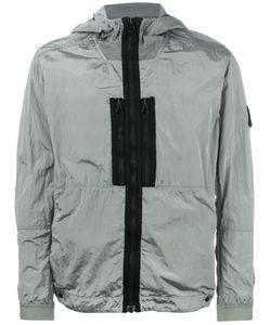 Stone Island   Logo Patch Hooded Jacket Mens Size Medium Polyamide-8/Polyurethane