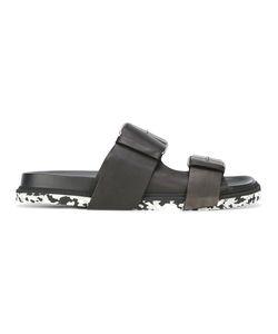 Maison Margiela | Double Buckle Sandals Mens Size 44 Leather/Rubber