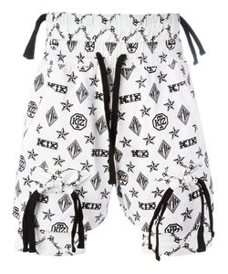 KTZ | Monogram Overlap Shorts Mens Size Small Cotton