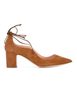 Rupert Sanderson | Lace Up Pumps Womens Size 40 Suede/Leather