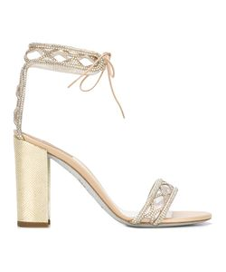 Rene Caovilla | René Caovilla Embellished Sandals Womens Size 39 Leather/Pvc/Pvc