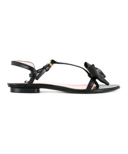 Boutique Moschino | Bow Applique Sandals Womens Size 37 Leather