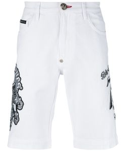 Philipp Plein | Embroide Slogan Shorts Mens Size 30 Cotton