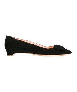 Rupert Sanderson   Tab Ballerinas Womens Size 37 Suede/Leather