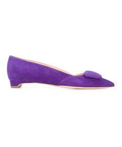 Rupert Sanderson   Aga Ballerinas Womens Size 39 Suede/Leather