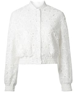 Huishan Zhang | Macrame Lace Bomber Jacket Womens Size 10 Polyester