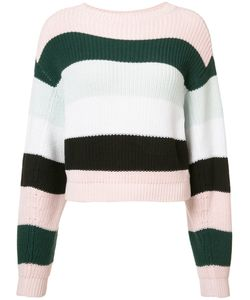 Adam Lippes | Striped Cropped Jumper Womens Size Xs Cotton