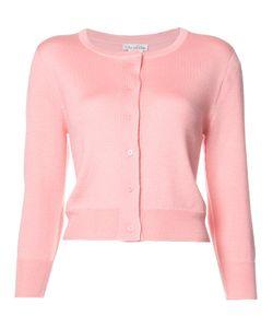 Oscar de la Renta | Cropped Cardigan Womens Size Xl Silk/Cashmere