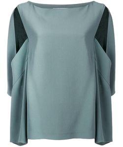 Chalayan | Open Sleeve Blouse Womens Size 46 Viscose/Acrylic
