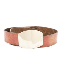 Golden Goose Deluxe Brand | Buckled Belt Womens Size 70 Leather/Metal