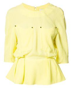 Mugler | Peplum Blouse Womens Size 34 Viscose/Acetate/Silk
