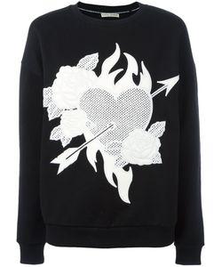 Each X Other   Heart Roses Patch Sweatshirt Womens Size Medium