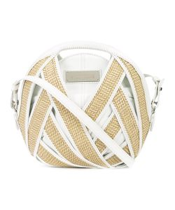 Perrin Paris | Round Clutch Womens Straw/Leather