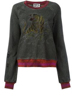 Pam & Gela | Embroide Tiger Sweatshirt Womens Size Small Cotton/