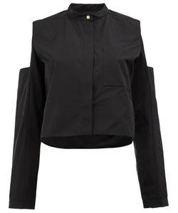 Maison Rabih Kayrouz   Cut-Out Shoulder Shirt Womens Size 38 Cotton