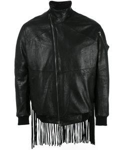 Julius | Fringed Leather Bomber Jacket Mens Size 2 Lamb Nubuck