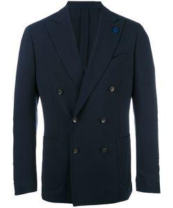 Lardini | Double-Breasted Peaked Lapels Blazer Mens Size 48 Wool/Viscose/Cupro