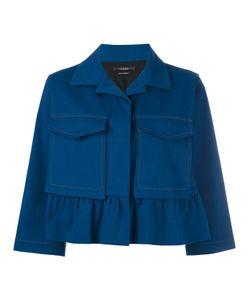 Odeeh | Boxy Cropped Sleeve Jacket Womens Size 38 Cotton/Spandex/Elastane/Lyocell