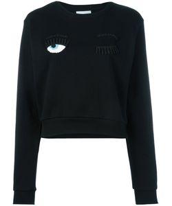 Chiara Ferragni   Wink Patches Sweatshirt Womens Size Xs Cotton/Acrylic