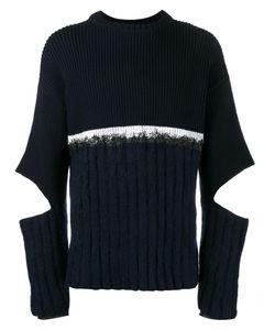 Helen Lawrence | Split Sleeve Jumper Mens Size Xl Lambs Wool/Mohair/Wool/Polyamide