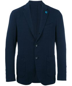 Lardini | Embossed Pattern Blazer Mens Size 50 Cotton/Spandex/Elastane