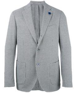 Lardini | Plaid Blazer Mens Size 50 Cotton/Polyester/Linen/Flax
