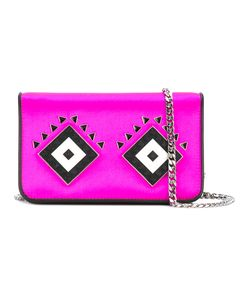Les Petits Joueurs | Lego Embellished Shoulder Bag Womens Leather/Satin/Metal
