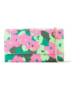 Muveil   Print Chain Wallet Womens Leather