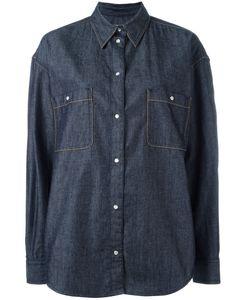 Maison Margiela | Contrast Stitch Denim Shirt Womens Size 38 Cotton