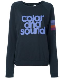 Freecity | Color And Sound Print Sweatshirt Womens Size Small Cotton