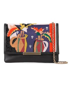Lizzie Fortunato Jewels   Embroide Fold-Over Clutch Womens Leather