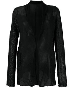 Salvatore Santoro | Mesh Effect Jacket Womens Size 44 Leather