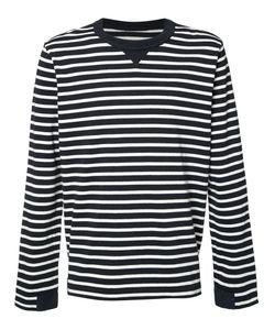 Sacai | Striped T-Shirt Mens Size 3 Cotton